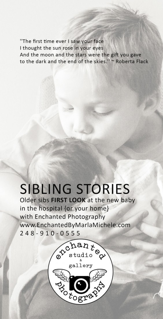 Sibling Photography in Metro Detroit for newborns