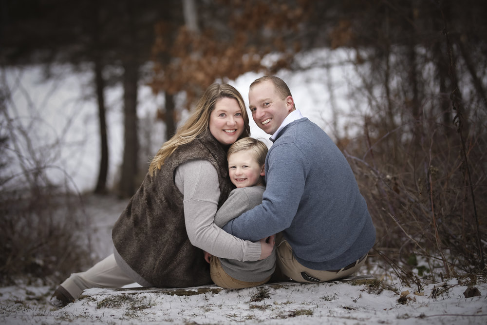 Professional Family Portrait In The Winter